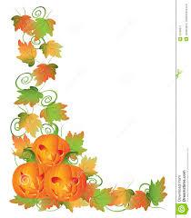 halloween border carved halloween pumpkins and vines border stock image image