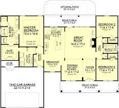 country style house plan 3 beds 2 baths 1834 sq ft plan 430 83