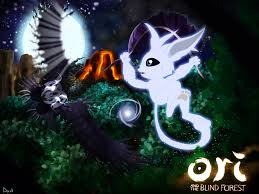 Ori And The Blind Forest Ori And The Blind Forest Fanart Escaping Kuro By Skodadav On