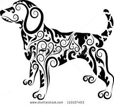 ornaments animal drawing floral ornament stock vector