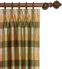 Silk Plaid Drapes Yellow Plaid Curtains Foter