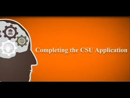 completing the csu application youtube