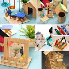 50pcs lot craft wooden puzzle for children ice cream stick arts