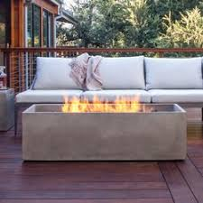 bjfs arroyo stainless steel gas fire pit table wayfair