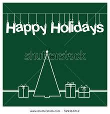 christmas card vector clipart illustration festive stock vector