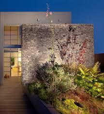 brick garden walls landscape tropical with concrete planter