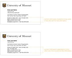 Standard Business Card Format 5 2 Business Cards Mizzou Identity Standards University Of