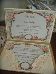Shabby Chic Wedding Invitations by Shabby Chic Wedding Invitation Lace Wedding Invitation Peony