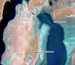 Aral Sea Map Aral Sea Kazakhstan And Uzbekistan Earthshots Satellite Images