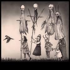 post it monsters by danish artist john ken he started drawing