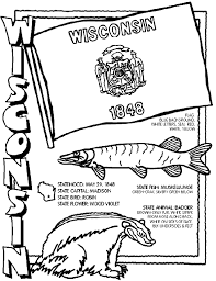 wisconsin facts coloring lots pages crayola