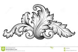 vintage baroque floral scroll ornament vector stock vector image