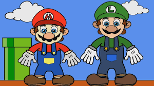 coloring mario and luigi kids coloring pages youtube