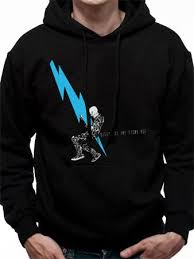 buy queens of the stone age lightning dude hoodie at loudshop