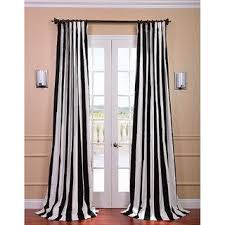 Black And White Stripe Curtains Cabana Black Stripe Cotton Curtain Panel
