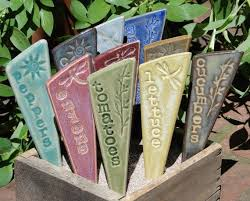 Vegetable Garden Labels by 200 Best Garden Markers Images On Pinterest Garden Markers