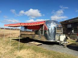 Vintage Trailer Awning Woman Sews Stylish Camper Awnings That Only Look Vintage