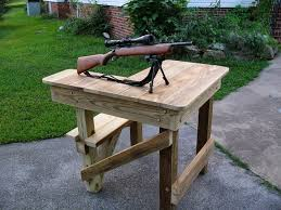 Easy Wooden Bench Plans Bench Building A Shooting Bench Diy Shooting Bench For Under