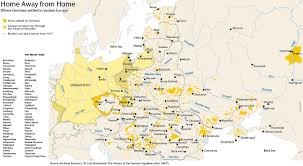 East Europe Map by Ethnic German Communities In Eastern Europe As In Excluding