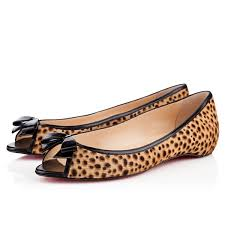 christian louboutin milady flats in sahara printed pony my color