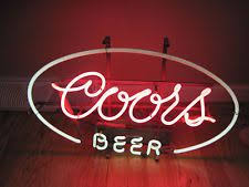 vintage coors light neon sign 1041 old metal hamm s beer electric sign on
