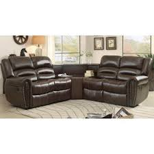 Furniture Wedge palmyra modular reclining sectional w table wedge homelegance