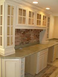 Modern Backsplash Kitchen Ideas Interior Design Surprising Brick Backsplash With Glass Front