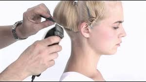 how would you style ear length hair long hair model buzz to short bob style haircut youtube