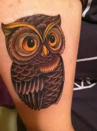 cute colored little owl tattoo tattoos photos