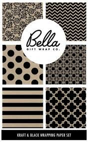 black wrapping paper gift wrap co