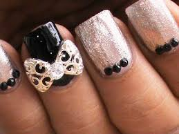 elegant nails bow nail art designs stickers youtube