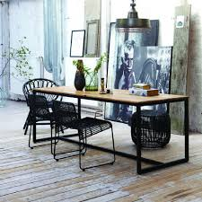 Mango Dining Tables Artistic Berlin Mango Wood Iron Industrial Dining Table At And