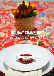 thanksgiving place cards ideas holiday cranberry place card wreaths my crafty spot when life