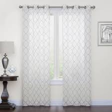 court fret embroidery window curtain set