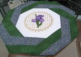 vicki u0027s fabric creations hexagonal octagonal swirly table topper