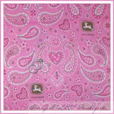 deere wrapping paper boneful fabric fq cotton deere pink white brown logo paisley