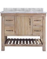 Bathroom Vanities 42 Deal On Marina 42 Bathroom Vanity Driftwood Finish