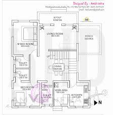 floor plan and elevation of flat roof villa kerala home design