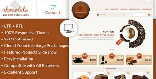 chocolate opencart responsive theme by templatemela themeforest