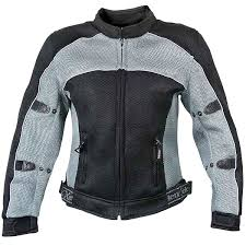 Xelement Cf507 Women U0027s Black Grey Mesh Jacket With Advanced Level