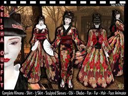 second life marketplace female geisha costume geisha costume