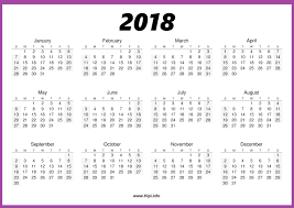 printable calendar year on one page twitter headers facebook covers wallpapers calendars 2018
