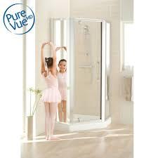 Lakes Shower Door Lakes Classic Semi Frameless Pentagon Shower Enclosure Baker And