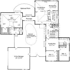 single level house plans with courtyardlevelhome plans ideas
