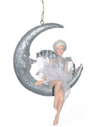 moon ornament in silver by katherine s collection