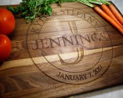 personalized kitchen items personalized cutting board etsy