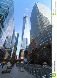 world trade center freedom tower and brookfield place editorial