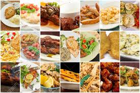 popular cuisine variety of popular chicken dishes in food collage imagery stock