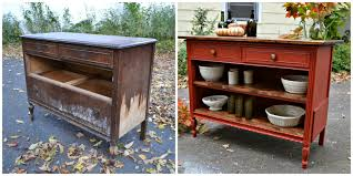 repurposed kitchen island adorable repurposed upcycled dresser inspirations with into