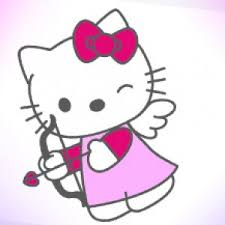 draw kitty bow arrow kids art hubkids art hub